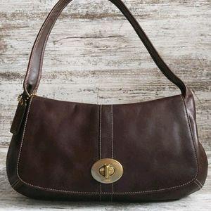 ⚃Like New Coach Brown Leather Shoulder Bag